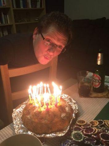 Geburtstags-Poker mit Kuchen und H